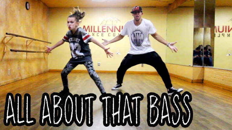 "Check Out This 11-Year Old Girl's ""It's All About That Bass"" Dance Moves. Amazing!"