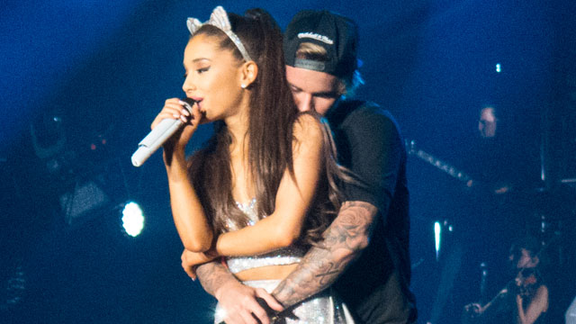 """Ariana Grande performs mash-up of Justin Bieber's """"What Do You Mean?"""" and Justin loved it!"""