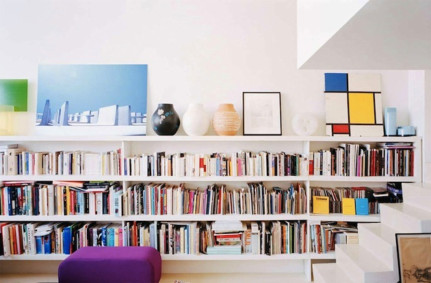 If you have a lot of books, check out this long #bookshelf, it's #warm and #bright