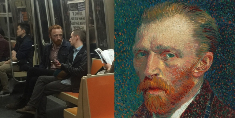 Vincent Van Gogh Spotted On A Subway