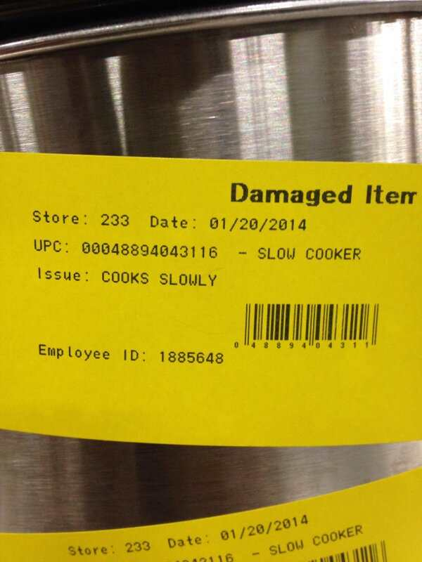 I wonder what the price drop caused by the issue in this 'slow cooker'...