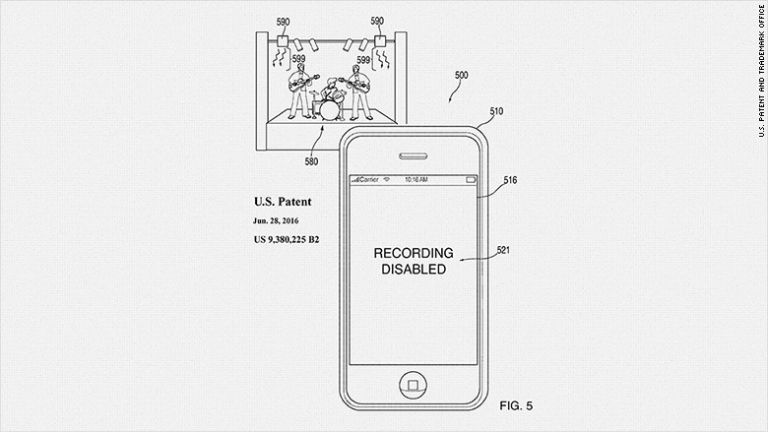 Apple Patents Technology To Disable Your Phone Camera