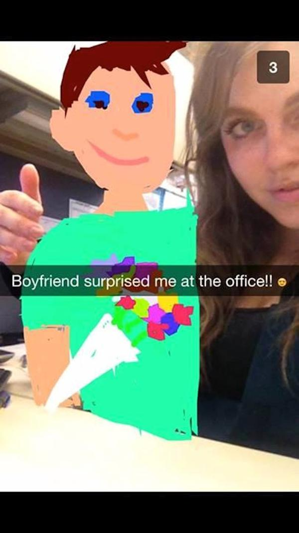 #BestSnaps: Tonight's best snapchat drawing goes to a delusional girlfriend