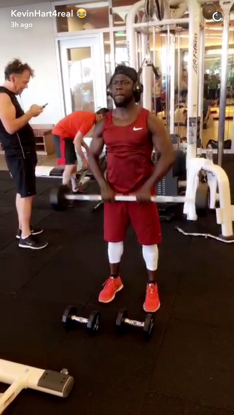 Kevin Hart is a gym junkie #lilswag79