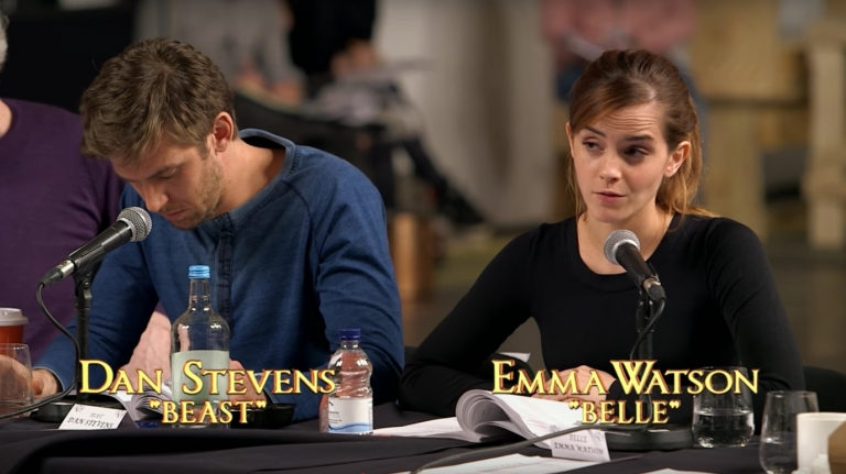 Emma Watson and Dan Stevens table read of upcoming live action remake of Disney's 'Beauty and the Beast'