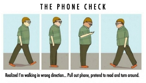 Why do you check your phone for no reason? #LOL