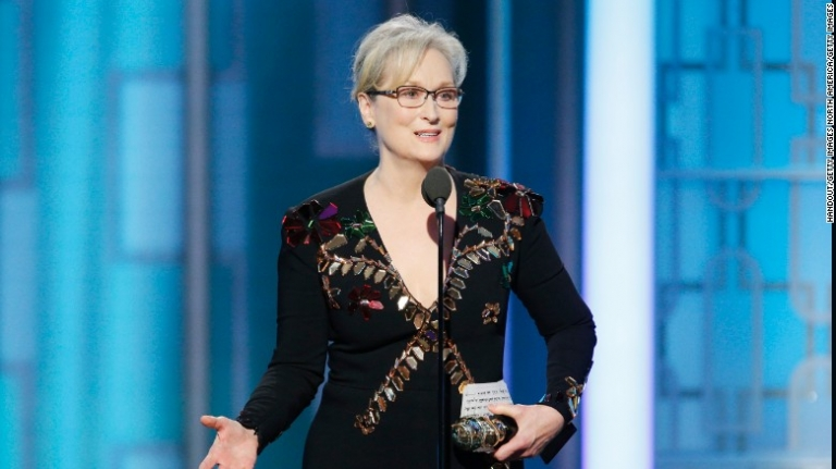 Meryl Streep blasts Donald Trump in her Golden Globes speech
