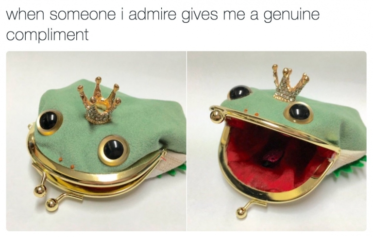 When someone i admire gives me a genuine compliment...