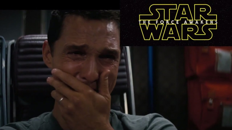 Matthew Mcconaughey's reaction to 'Star Wars: The Force Awakens' teaser trailer #2