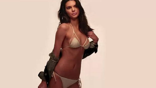Kendall Jenner wearing a swimsuit