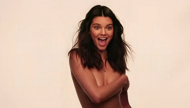 Kendall Jenner is topless