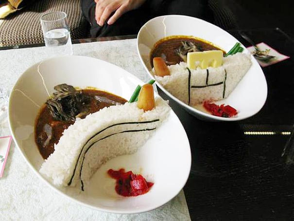 In Japan, they have this food called 'damukare' that will make you hungry when you look at it...