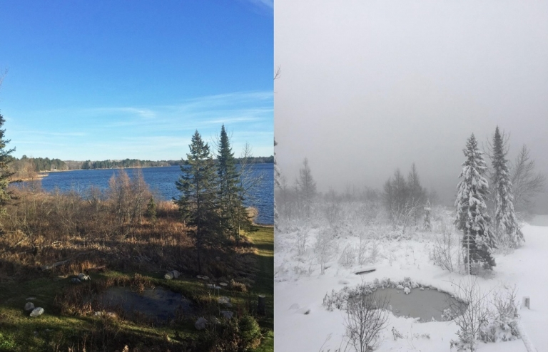 The difference two days can make in Minnesota weather...