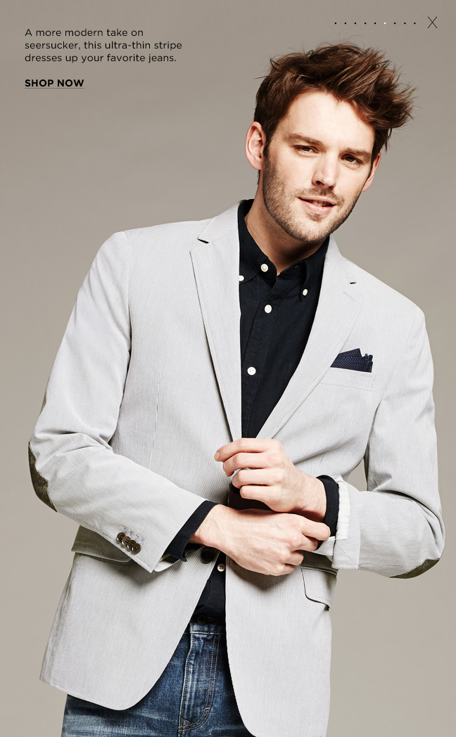 Love The Look On This Banana Republic Tailored-Fit Corded #Blazer