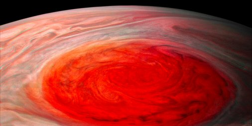 NASA's $1 Billion Juno Probe Captures New Hi-Res Images of Jupiter's Great Red Spot