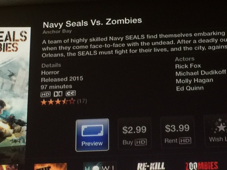 This movie must be bad for iTunes to sell it at a lower price than renting