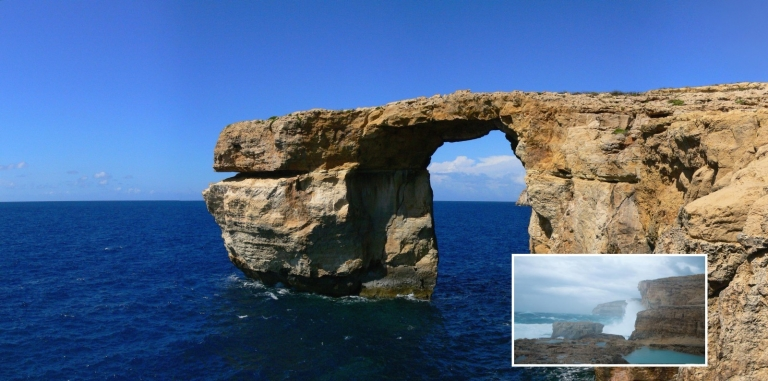 Malta's Iconic Landmark 'Azure Window' Collapsed Into The Sea