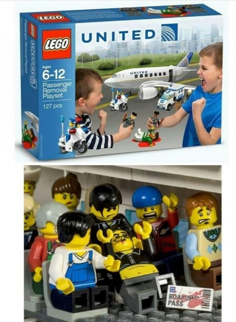 New From Lego: United Airlines 'Passenger Removal Play Set'... Train Your Kids How to Drag People! 🤣