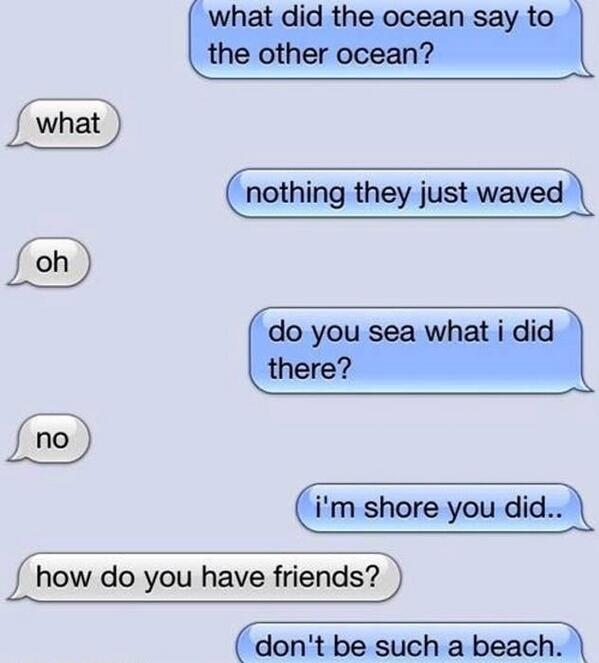 Two Oceans #FunnyTextMessage