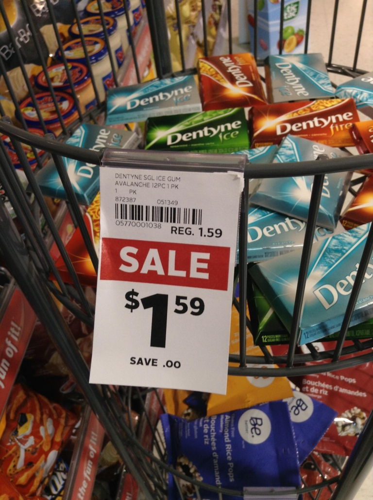 This gum is on sale for the same price...