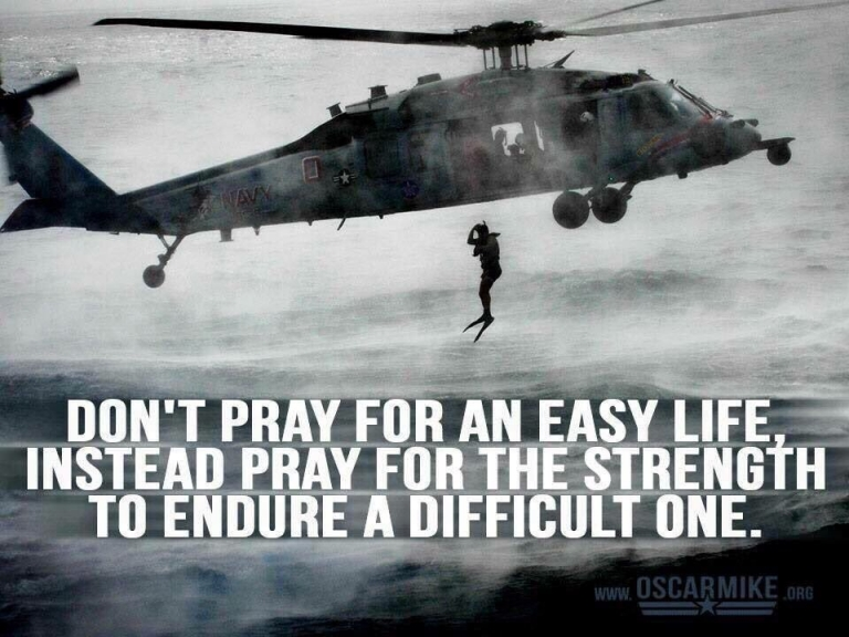 #MondayMotivation: Don't pray for an easy life, instead pray for the strength to endure a difficult one.