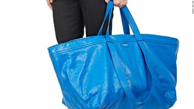 This Balenciaga bag that costs $2,145 is just like Ikea's 99 cent tote