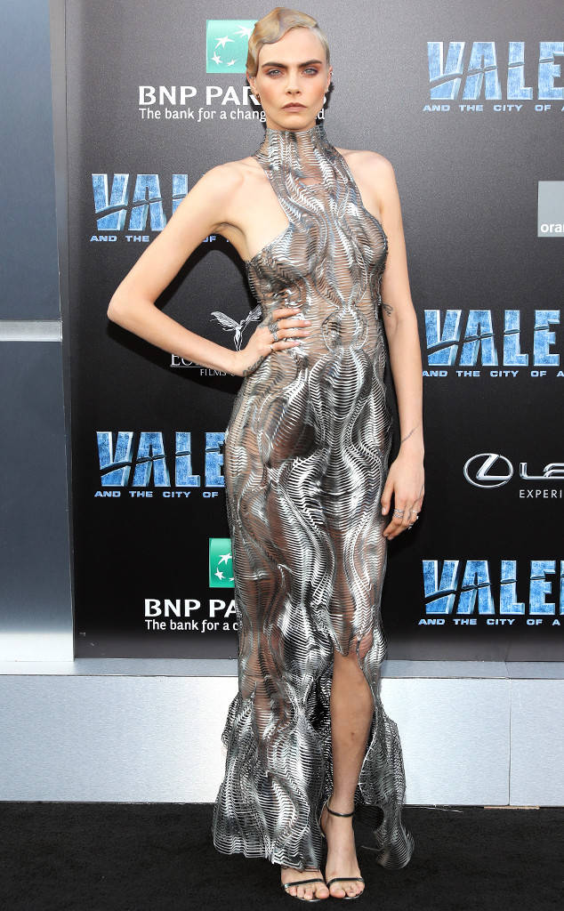 Cara Delevingne Looks Stunning in 'Valerian and the City of a Thousand Planets' Hollywood Premiere