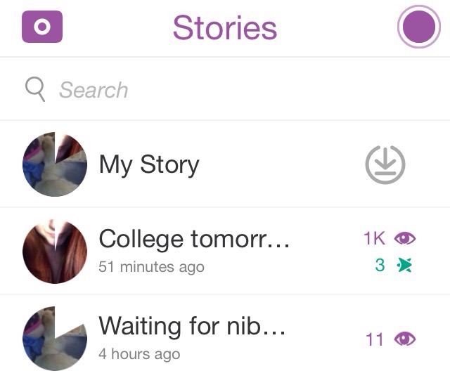 "Difference between ""Friends Only"" (4 hour one) and ""Everyone"" (1 hour) oh and the story snap :L"
