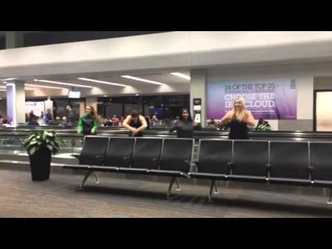 Four ladies stuck at SFO airport dance to the tune of Flawless by Beyonce... watch how good they are!