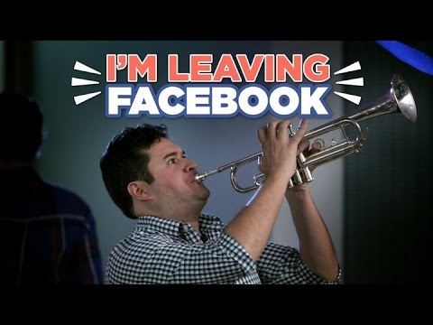 Accurate Depiction Of How Some People Leave Facebook