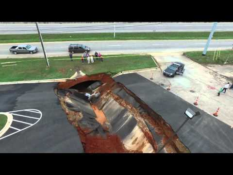 Watch This Drone Footage of the IHOP Sinkhole