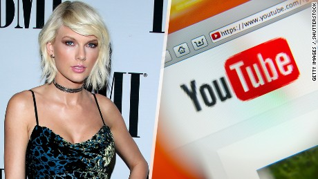 Taylor Swift takes on YouTube