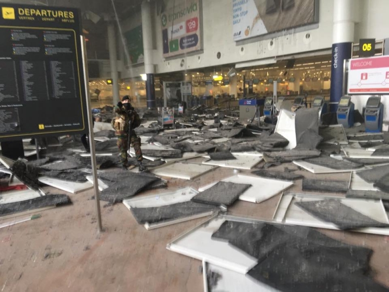 Reports of explosions at Brussels airport