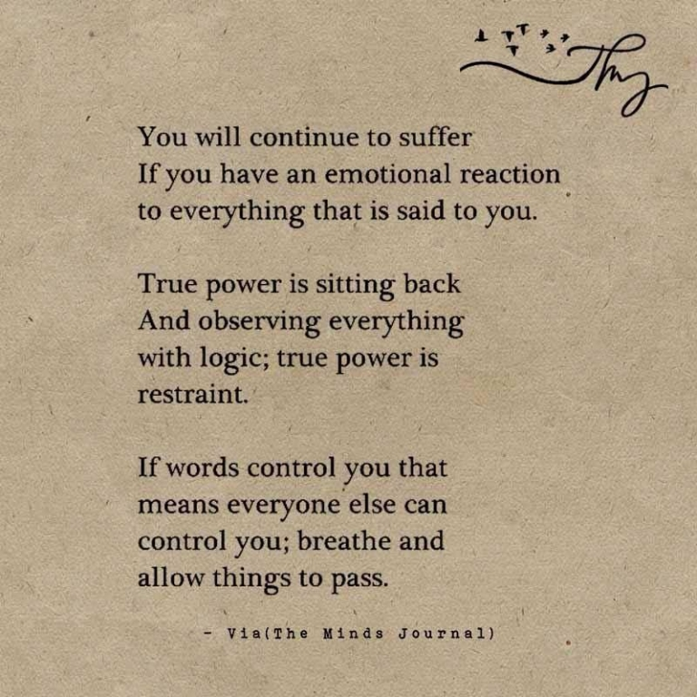 Control Your Emotions...