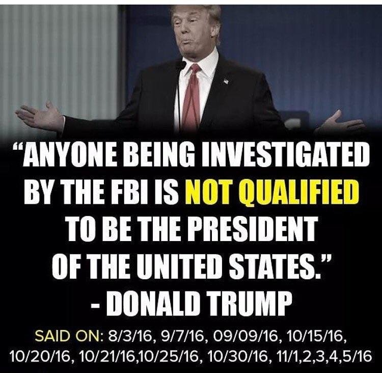 President Trump on Being Investigated by the FBI