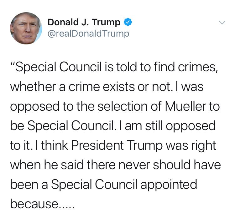 President #DonaldTrump fixed a few typos but still thinks the Special Counsel is a Special Council #LOL