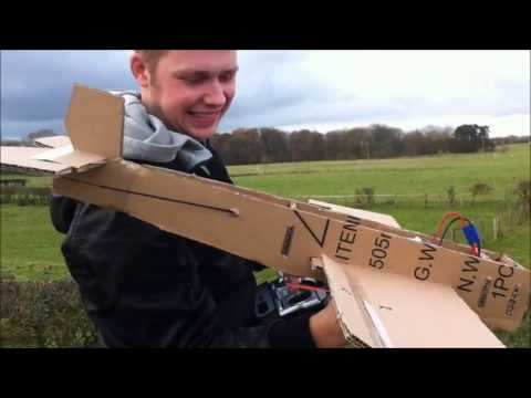 Two Guys Are Too Happy After Their Cardboard Plane Flew Successfully