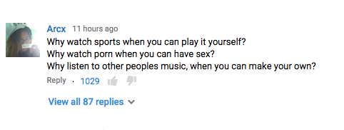 #DumbestCommentsEver: In reply to Jimmy Kimmel's mocking of YouTube Gaming