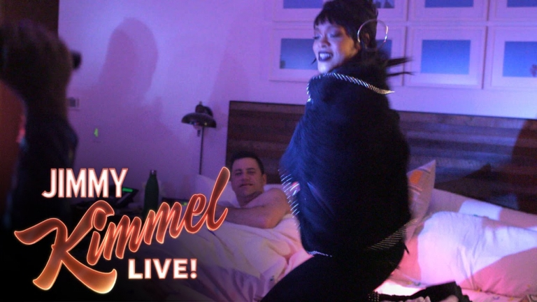 Rihanna Pranks Jimmy Kimmel While He's Sleeping