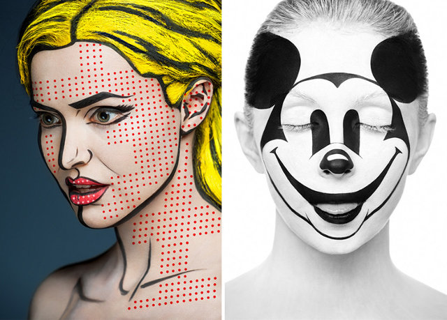 Insane #Makeup Turns Models Into 2-D Paintings Of Famous Artists