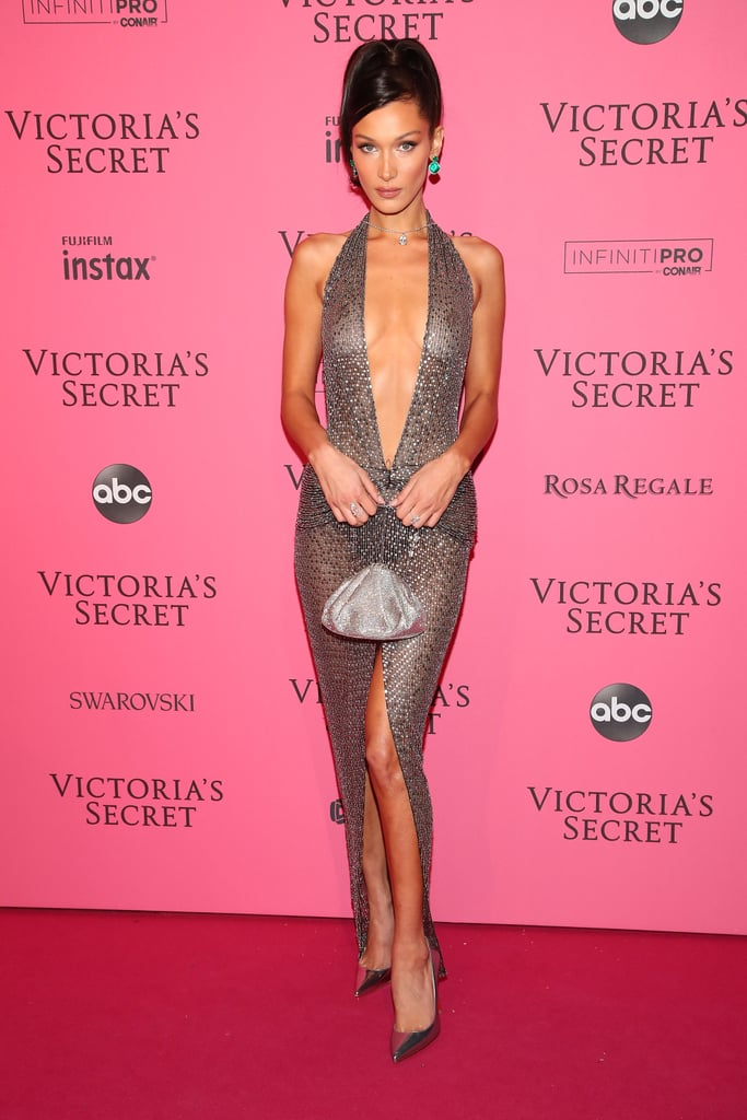 Bella Hadid #StyleInspiration, a See Through Dress with Plunging Neckline