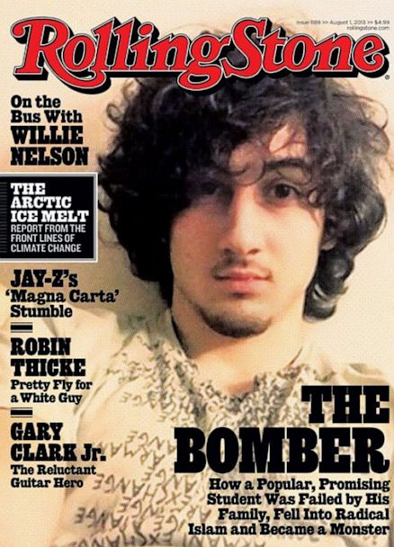Boston Bomber, Dzhokhar Tsarnaev, on the Rolling Stone magazine cover... why would they glorify this man? | #wtf #BostonBomber