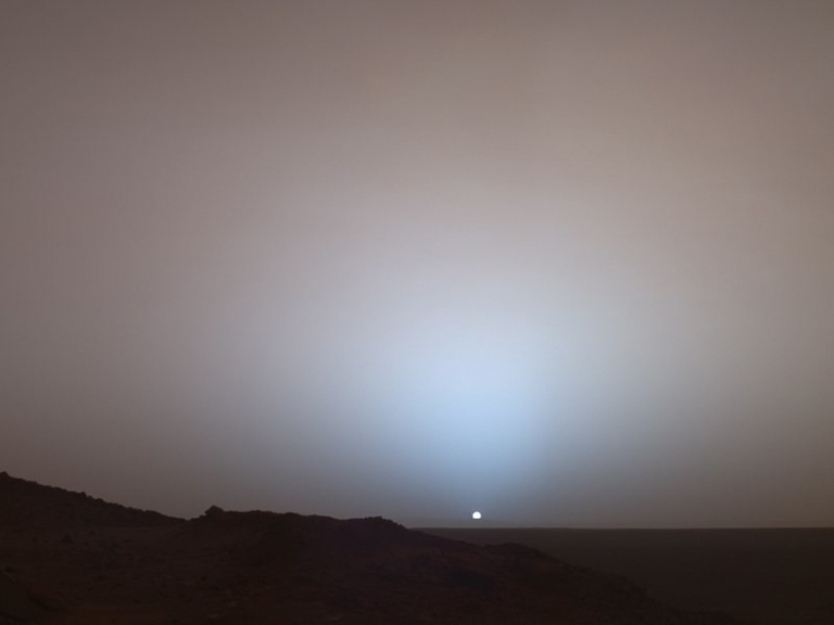 Sunset as seen from #Mars