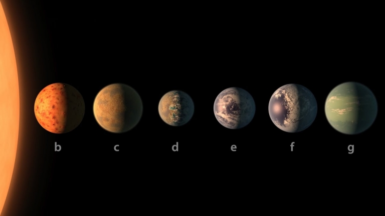 #NASA: Seven Earth-Sized Planets Discovered Orbiting Nearby Dwarf Star Called TRAPPIST-1