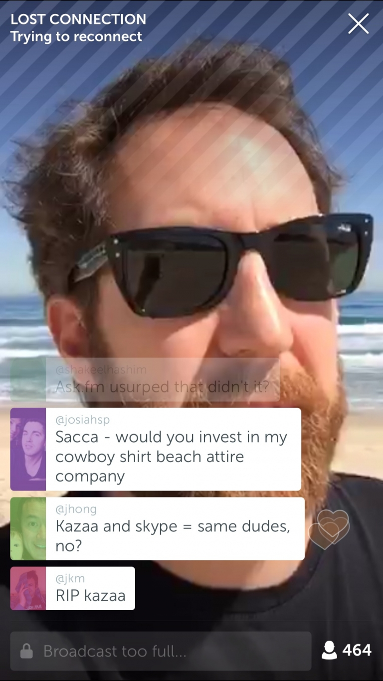 #Investors: Follow Chris Sacca on Periscope @sacca