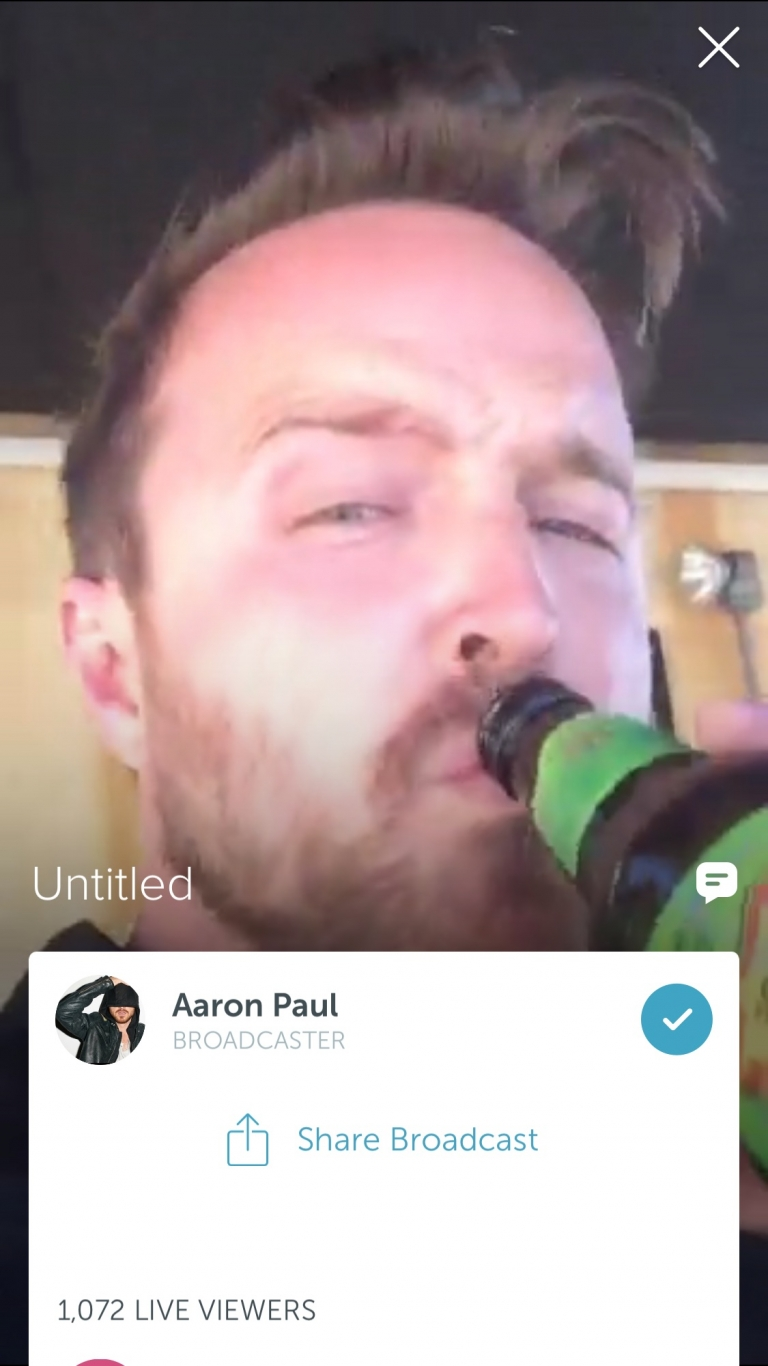 Aaron Paul Love To Broadcast While Drinking Beer