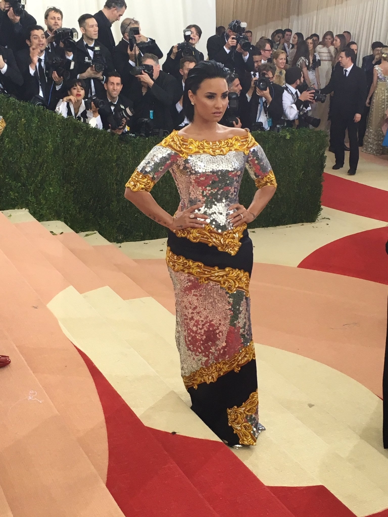Demi Lovato at Met Gala 2016 Red Carpet