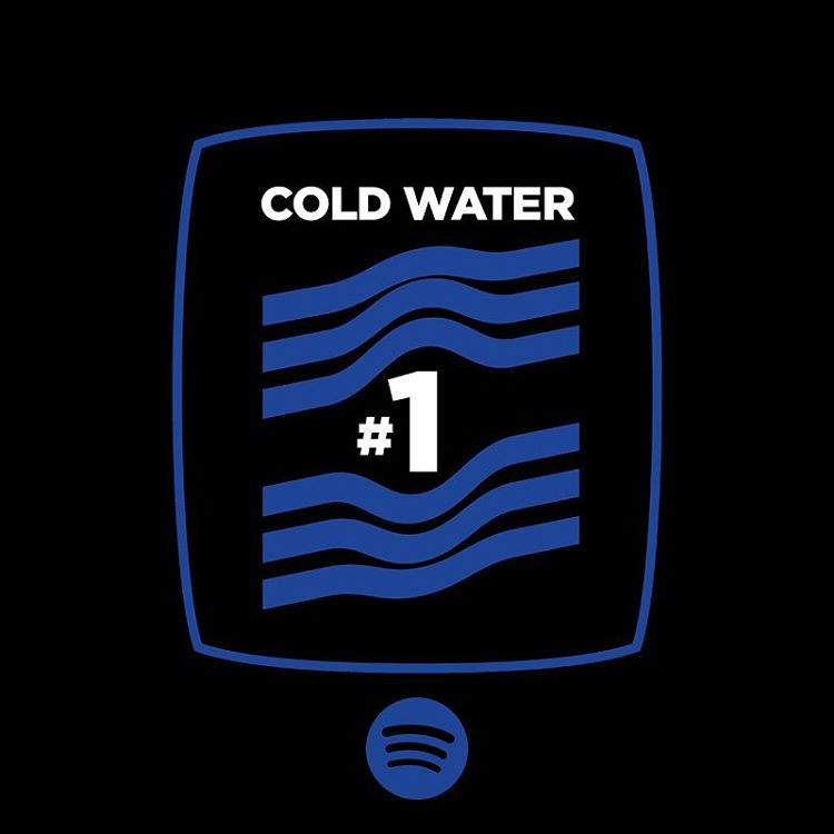 Justin Bieber and Major Lazer 'Cold Water' collaboration hits #1 on Spotify!
