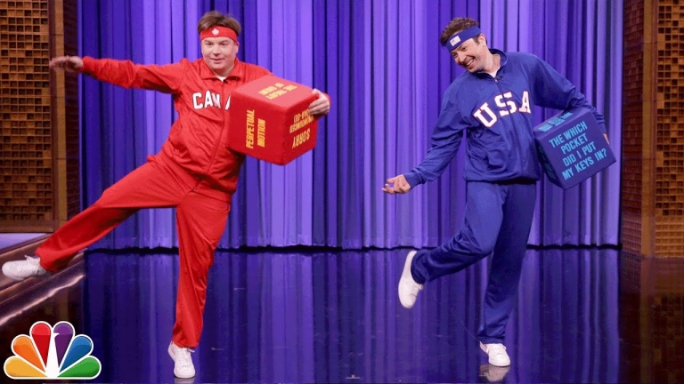 Mike Myers and Jimmy Fallon Dice Dance-Off