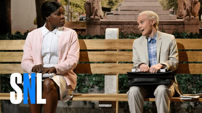 #SNL skit made fun of Jeff Sessions as Forrest Gump and Kellyanne Conway's missing leg 🤣
